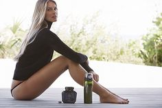 The model, who has her own health brand, recently revealed that she carries around a pH ba...