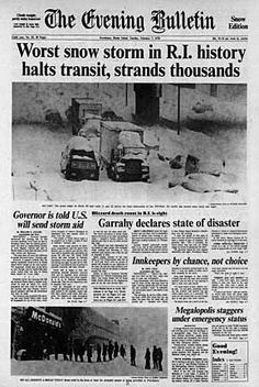 RI - Providence Journal - Blizzard of '78 #soRIhistory, #soRI