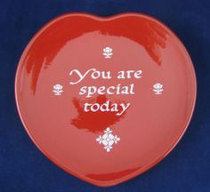 Waechtersbach Your Are Special Today Red Heart Shape Plate Mint Made Germany | eBay