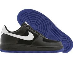 the latest 9ab7e 3bc65 Nike Air Force 1 Low 07 (black   white   old royal blue) Shoes 315122-011    PickYourShoes.com