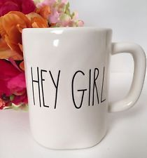 "NEW ""HEY GIRL"" Coffee Mug Cup from Magenta By Rae Dunn - Fall Home Shabby Decor"
