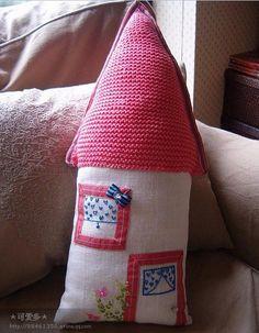 勾织拼布一体的抱枕(多图鉴赏) - 63100253 - 63100253的博客