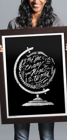 Buy this Be The Change Print at http://www.sevenly.org/product/5232442c069d03d503000001?cid=ShrPinterestProductDetail