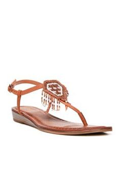 Carlos by Carlos Santana Brown Tonalea Wedge Sandal