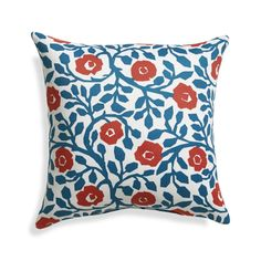 """Poppy Scroll 20"""" Sq. Outdoor Pillow  