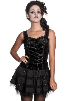 Harper Black Mini Dress by Hell Bunny £39.50 http://www.the-gothic-shop.co.uk/