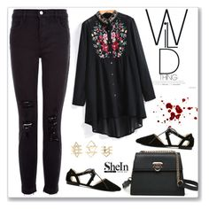 """""""SheIn"""" by amra-mak ❤ liked on Polyvore featuring J Brand, Charlotte Russe and shein"""
