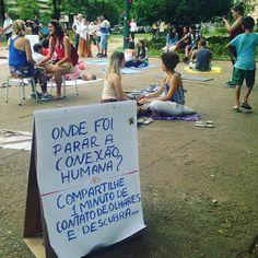Onde foi parar a conexão humana? Compartilhe 1 minuto de olhares e descubra! #agentenaoquersocomida #avidaquer @avidaquer por @samegui ( Raquel Camargo)