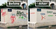 This Guy Is Painting Over Ugly Graffiti To Make It Legible | Bored Panda