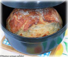 Vaivaamaton pataleipä --- (Oma ensikokeiluni: http://stello.vuodatus.net/lue/2014/01/ihanan-helppo-ja-taydellinen-leipa - voin todellaki suositella! Helppo ja nopeatekoinen taikina, oma taikinani tarvitsi vain kuuden tunnin kohotuksen, ja tulos oli aivan täydellinen.. Nam!) Klikkaa kuvaa, niin pääset reseptisivulle.