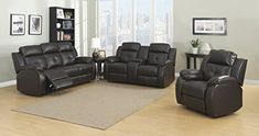 The troy living room collection is the perfect solution for the comfort conscious consumer. Dark brown reconstituted leather covers a soft architectural silhouette. Troy is the epitome of both comfort and design. Both the sofa and loveseat feature smooth power chaise recliners. The loveseat... more details available at https://furniture.bestselleroutlets.com/living-room-furniture/living-room-sets/product-review-for-christies-home-living-troy-room-set-in-espresso-with-5-power-