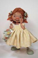 Al een tijdwou ikgrappige kleine fairies boetseren ,en eindelijk zijn ze er .......de fairy puppets ze zijn tussen 6en 7 cm hoog en...