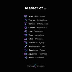#dailyhoroscope #todayhoroscope #horoscope #january Each zodiac sign is a master of something. What is your mastery?