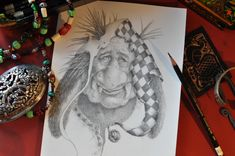 A drawing of a Norwegian Christmas Troll by Melissa Mary Duncan. Very dangerous if encountered in real life approach with caution if at all.