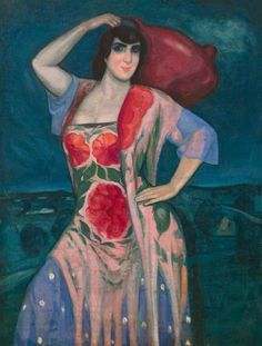 Maja con cántaro by Gustavo de Maeztu (Spanish 1887-1947)