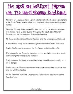 harriet tubman the underground railroad project if these  harriet tubman the underground railroad a reader s theater script