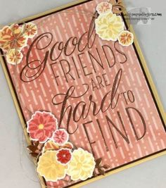 Stampin' Up! Lovely Friends And Daisies for the Happy Inkin' Thursday Blog Hop | Stamps – n - Lingers