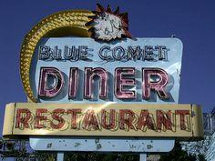 HAZLETON, PENNSYLVANIA Blue Comet Diner Closed ABANDONED 1950s VINTAGE NEON SIGN Roadside by Christian Montone, via Flickr