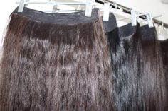 Natural Russian Dark Wavy and Straight Clip-in Hair Extensions, Very Soft And Strong Human Hair #hair #clipinhair #hairextension
