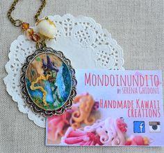 Rapunzel from tangled inspired cameo. Clay di mondoinundito, €32.00