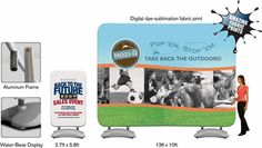 Whether it is indoor or outdoor #advertising, you cannot do without this #Fabsta display system.