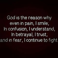 God Is The Reason