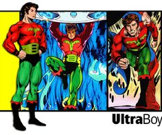 Ultra Boy of the Legion of Super-Heroes.  Various artists.