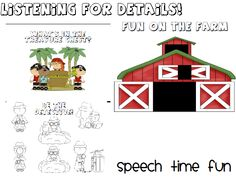 Speech Time Fun: Listening For Details Variety Pack!