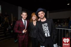 Nick Jonas, Reba, and Boy George (Photo: Joseph Llanes for iHeartRadio)