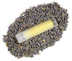 Lavender and clary sage lip balm recipe.