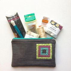 Stop by the blog today, for a chance to win this! My #handmade pouch stuffed with my favorite sewing  notions! Good luck! Xo #showmethemoda #babylocksewing #aurifil #linkinprofile #clover