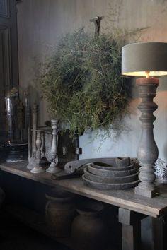 Spektakulär – José Mesman-Schreuder – # José – Best Home Decor Wabi Sabi, Farmhouse Homes, Farmhouse Decor, Casas Shabby Chic, Comfy Bedroom, Deco Floral, Rustic Christmas, Beautiful Interiors, Home Accents