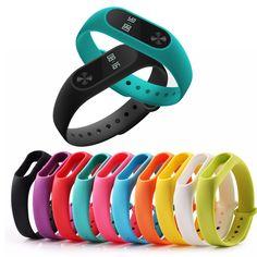 1 pcs Xiaomi mi band 2 Wrist Strap Belt Silicone Colorful Wristband for Mi Band 2 Smart Bracelet for Xiaomi Band 2 Accessorie