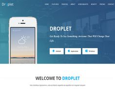 Droplet-App landing page