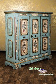 VOGLAUER Anno 1700 dresser wardrobe armoire hand painted solid | eBay