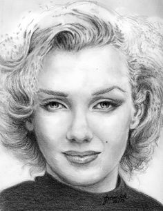 12x12 cm Marilyn Monroe Pencil Portrait