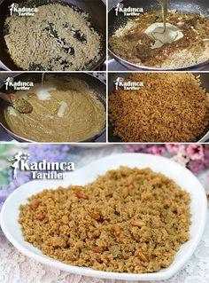 Tahinli Ve Pekmezli İrmik Helvası Tarifi Most Delicious Recipe, Delicious Desserts, Yummy Food, Vegan Sugar, Cooking Recipes, Healthy Recipes, Turkish Recipes, Food Art, Sweet Tooth
