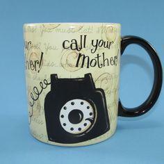 Lang Call Your Mother Rotary Telephone Mug Cup 2007 Dan DiPaolo 12 Oz Unused #Lang