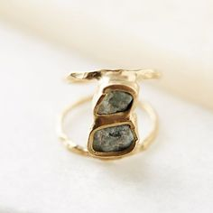Stacked Emerald Ring (ad) #AnthroFave #AnthroRegistry