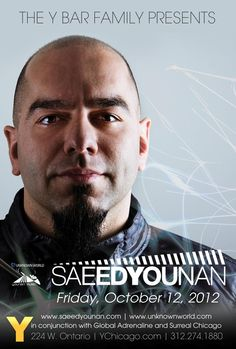 Happy Friday Huge Night on tap With Saeed Younan at Y Bar then Crescendo Say Surreal at Both, tables/specials text 773-459-8133, Let's Go!!!