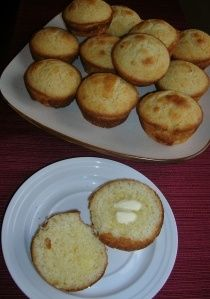 Sour Cream Cornbread Muffins.
