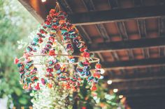 Handmade colorful chandeliers