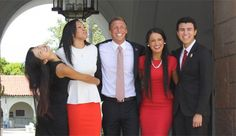 Josh Morse (center) chronicles his incredible journey from homelessness to head of SDSU's Associated Students.