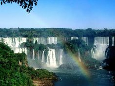 Iguazu Falls, Argentina and Brazil - Beautiful Places to Visit Beautiful Places In The World, Oh The Places You'll Go, Places To Travel, Places To Visit, Beautiful Sites, Chutes Victoria, Iguazu Waterfalls, Puerto Iguazu, Largest Waterfall