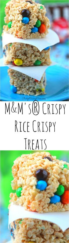 M&M's® Crispy Rice Crispy Treats Recipe #crispycomeback #ad