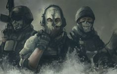 Photo wallpaper special forces, ghosts, call of duty, mask, Call of Duty: Ghosts, art
