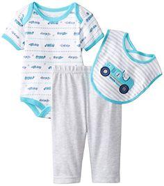0ae699c6b Rene Rofe Baby BabyBoys Newborn Classic Car 3 Piece Pant Set with Bodysuit  and Bib Multi