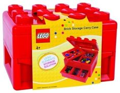 Lego Deluxe Brick and Minifigure Storage Carrying Case with Pull Out Drawer modern toy storage