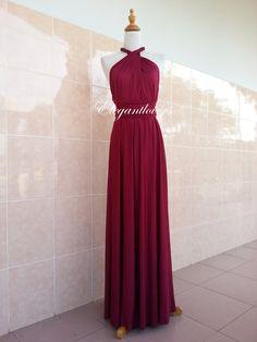 Maroon Wedding Dress Bridesmaid Dress Infinity by Elegantlovers, $85.00