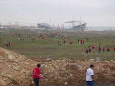"""Liverpool fans trek to the Ataturk stadium in Istanbul (a.k.a the stadium where a dream came true for the Reds...)! """"Hold your head up high And don't be afraid of the dark At the end of the storm..."""""""